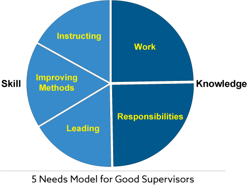 5 Needs Model for Good Supervisors