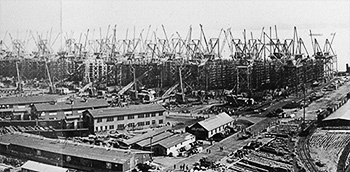 Philadelphia Shipyard During WW1