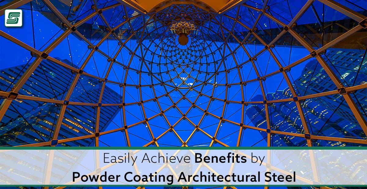Benefits from coating architectural steel